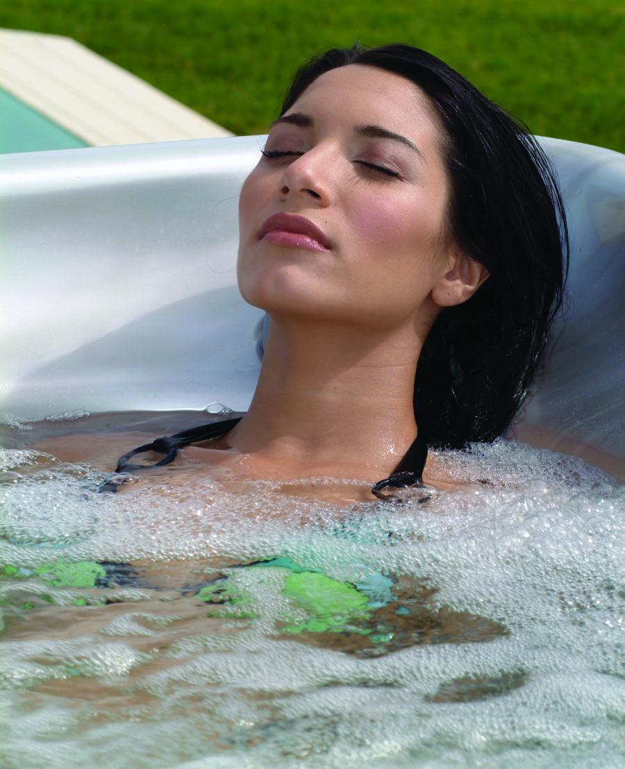 Woman Relaxing in American Spa